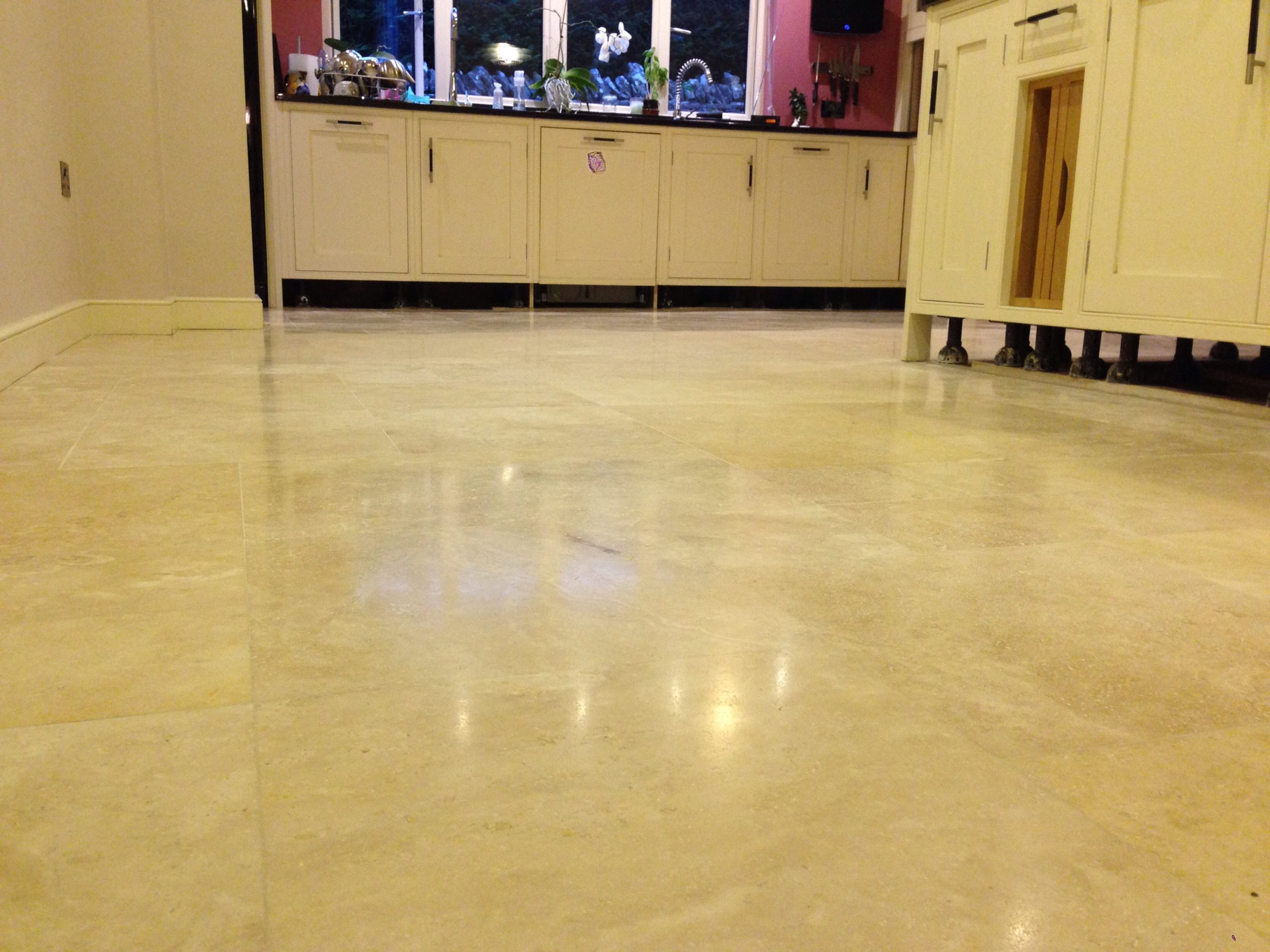 Travertine archives cotswold stone floor cleaners now the polished travertine floor is totally level repolished sealed making it like one complete piece of stone a monolith dailygadgetfo Images